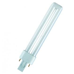 Лампа люминесцентная компактная OSRAM DULUX S - 7W/830 400lm G23 3000K - 4050300025735