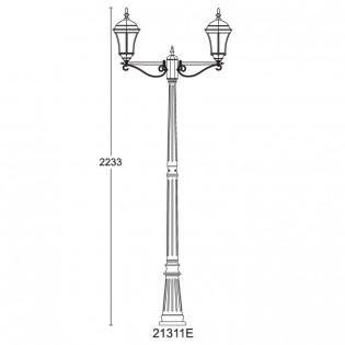 Светильник парковый 21311E DALLAS І Lusterlicht