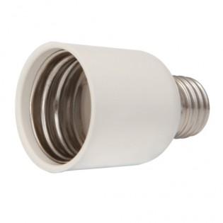 Переходник e.lamp adapter.Е27/Е40.cer c цоколя Е27 на Е40, пластиковий