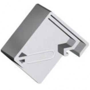 Комплект заглушек КЗСУУ для профиля ЛСУ с рассеивателем РСУ (угол) матовый
