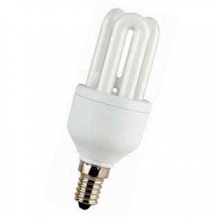 Лампа энергосберегающая 3U, E14, 2700К, 5Вт