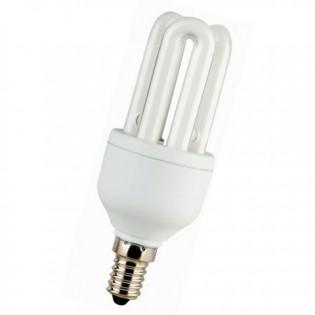 Лампа энергосберегающая 3U, E14, 6400К, 7Вт