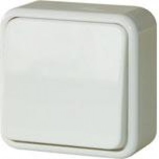 Выключатель одноклавишный для внешнего монтажа, IP20 (блистер)