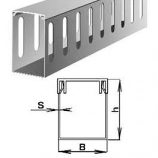 Короб ПВХ перфорированный 40х50мм, 2м