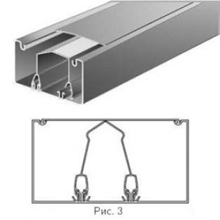 Короб ПВХ c перегородкой 100х50мм, 2м, (h-50)