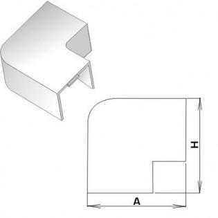 Плоский угол для короба 15х10мм