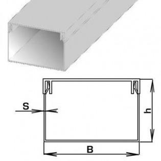 Короб ПВХ 40х16мм, 2м (молочно-белый)