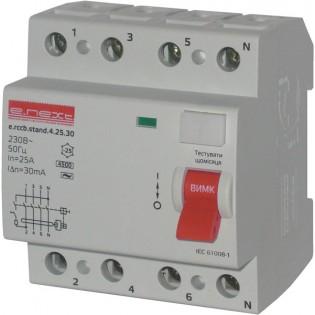 Выключатель дифференциального тока, 4р, 63А, 30mA (stand) E.NEXT