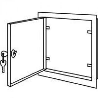 Дверцы ревизионные металлические с замком 200х200мм