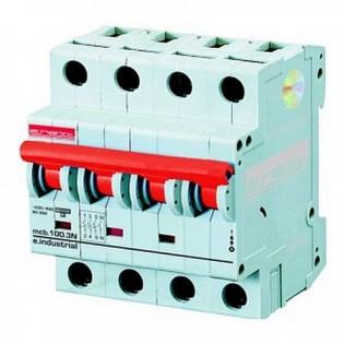 Модульный автоматический выключатель e.industrial.mcb 10кА, 4p, C, 32А E.NEXT