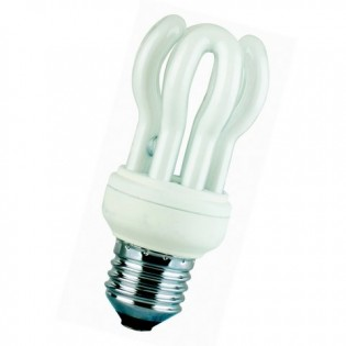 Лампа энергосберегающая flower, E14, 4200К, 11Вт