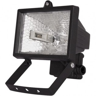 Прожектор под галогенную лампу, 500Вт, черный