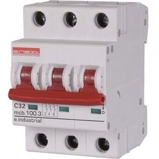 Модульный автоматический выключатель e.industrial.mcb 10кА, 3p, D, 63А