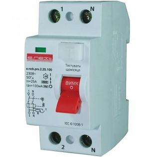 Выключатель дифференциального тока,  2р, 25А, 300мА (pro)