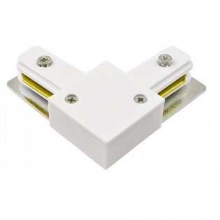 Соединитель L -образный внешний для однофазного шинопровода (черный, серебряный, белый) HOROZ Electric
