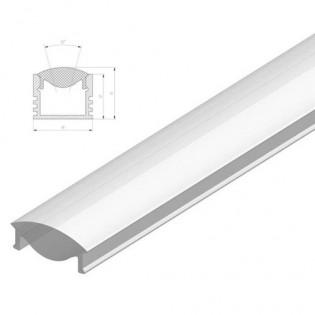 Рассеиватель фокусирующий (линза) для профиля LED прозрачный