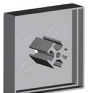Комплект заглушек КЗСМ для профиля ЛСУ с рассеивателем РСУ (квадратная, большая) 2 шт
