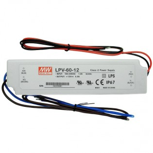 Блок питания LPV-60-12 60W 12V DC IP67 Mean Well