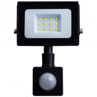 Прожектор светодиодный LED 10W ultra 6400K IP65 с датчиком движения ONE LED