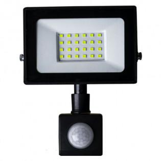 Прожектор светодиодный LED 30W ultra 6400K IP65 с датчиком движения ONE LED