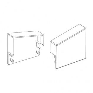 Заглушка ЗСТЛ для профиля ЛСС и ЛСО с рассеивателем РСТ (трапеция) левая