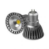 Лампа светодиодная KOD-MR16-3-220V 4W GU5,3 6000K алюминиевый корпус KOD
