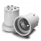 Патрон для газоразрядных ламп (cо стальной гильзой) - Vossloh-Schwabe фарфор белый T270 E40 (тип 12800) - 532602