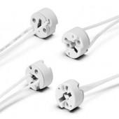Патрон для газоразрядных ламп - Vossloh-Schwabe керамика T270 PGJ5 (тип 34111 центральный вывод проводника) - 534017