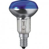 Лампа накаливания рефлекторная - Philips Reflector Colours NR50 E14 230V синяя 40W 160lm - 923346644217