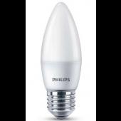 Лампа светодиодная свеча ESS LEDCandle 6.5-60W E27 827 2700K 550lm B38NDFRRCA Philips  - 929001811407