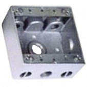 """Коробка монтажная металлическая с 5 (0-0-2-2-1) резьбовыми входами, 1/2"""""""