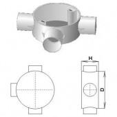 Коробка соединительная трубная, 3 ввода, d20мм