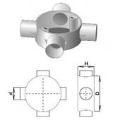 Коробка соединительная трубная, 4 ввода, d20мм