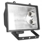 Прожектор под энергосберегающую лампу, 2 патрона Е27, черный;