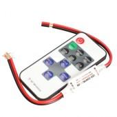 Мини-диммер (с RF пультом) на 11 кнопок для монохромной светодиодной ленты