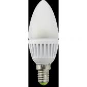 Лампа светодиодная cвеча 6W E14 2800K алюминиевый корпус Bellson