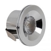 Светильник светодиодный 3Вт 6400K HL666L POWER LED Матовый хром HOROZ (Турция)
