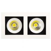 Светильник светодиодный 2x8Вт 2700K HL6722L COB LED DOWNLIGHT Белый HOROZ (Турция)