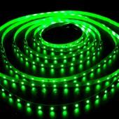 Светодиодная лента 60шт/м SMD 3528 IP65 Зеленая Motoko