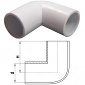 Угловой соединитель для труб d40мм