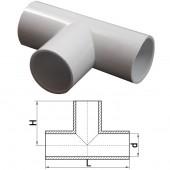 Т-соединитель для труб d25мм