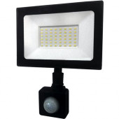 Прожектор светодиодный LED 50W ultra 6400K IP65 с датчиком движения ONE LED
