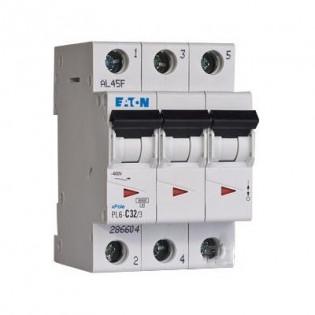 Модульный автоматический выключатель PL6-C32/3, 6kA, 3p, 32A MOELLER-EATON