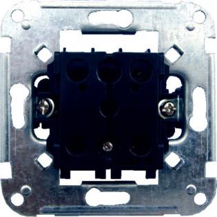 Механизм выключателя одноклавиш. кнопочного с подсветкой 11652