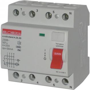 Выключатель дифференциального тока, 4р, 25А, 30mA (stand) E.NEXT