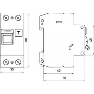 Выключатель дифференциального тока с защитой от сверхтоков, 2р, 32А, С, 30мА (industrial) E.NEXT