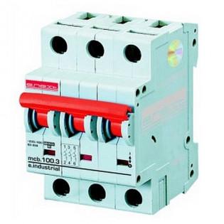 Модульный автоматический выключатель e.industrial.mcb 10кА, 3p, D, 40А E.NEXT