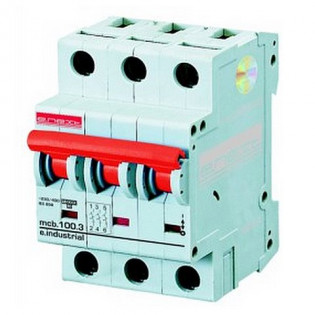 Модульный автоматический выключатель e.industrial.mcb 10кА, 3p, D, 10А E.NEXT
