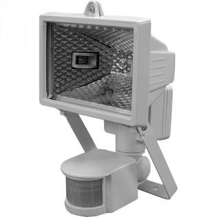 Прожектор под галогенную лампу с датчиком движения, 150Вт, белый