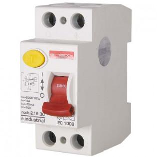 Выключатель дифференциального тока, 2р, 25А, 30мА (industrial) Выключатель дифференциального тока, 2р, 16А, 30мА (industrial) E.NEXT